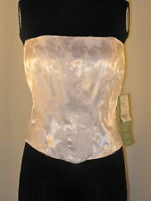 NWT!  Scene Pink satin Tube Top Club Wear Sexy Lace Up Corset ~ Sz 11~ $179