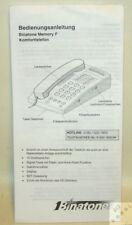 Bedienungsanleitung für Telefon Binatone Memory F auf Deutsch Handbuch Manual