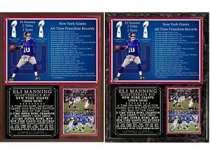 Eli Manning Career Tribute Photo Plaque