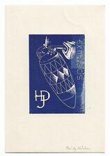 FRITZ KÜHN: Exlibris für H. J. D., Trommel