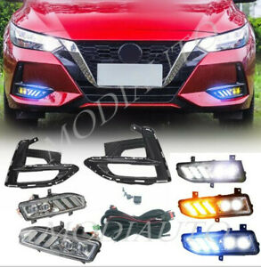 20-21 For Nissan Sentra LED front fog lights//signal lights /Wiring switch H kit