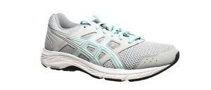 ASICS Womens Gel-Contend 5 Gray Running Shoes Size 10 (Wide) (1545863)