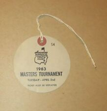 1963 USED MASTERS GOLF BADGE~COLLECTORS ITEM~VERY VERY RARE TICKET~JACK NICKLAUS