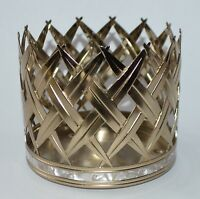 NEW BATH & BODY WORKS GOLD PALM LEAVES METAL LARGE 3 WICK CANDLE HOLDER 14.5 OZ