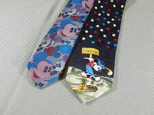 Lot of 2 Mickey Mouse Ties Clean