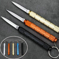 Outdoor Stainless Blade EDC Pocket Folding Knife Keychain Survival Mini Tool