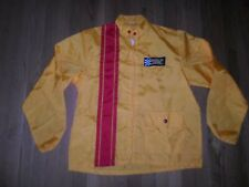 VTG Car Racing Yellow Stripe Jacket 1970s Bosch Germany Spark Plugs Patch M