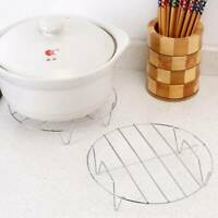 1Pc Steamer Rack Portable Insert Stock Pot Steaming Tray Stand Stainless Steel