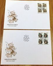 Norway Post FDC 1991.02.21. Nature IV - Lynx Cat & Owl Bird - Block of Four