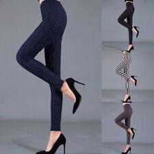 Cintura Alta Mujer Pantalones Gimnasio Running Rayas Impresión Slim Yoga Mallas