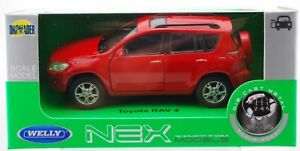 WELLY TOYOTA RAV 4 RED 1:34 DIE CAST METAL MODEL NEW IN BOX