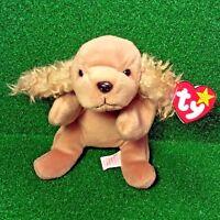 MWMT 1997 Rare/Retired  Spunky The Dog Cocker Spaniel Ty Beanie Baby PE Pellets