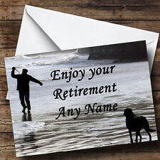Man And Dog Personalised Retirement Greetings Card