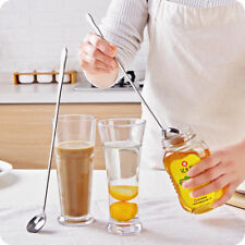 New Stainless Steel Spoon Shovel Shape Long Handle Coffee Ice Cream Soup Dessert
