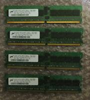 4 x Micron 1GB PC2-3200 DDR2-400MHz ECC MT18HTF12872Y-40EA2 Memory Module