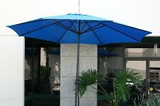 New Patio Outdoor 13' Aluminum Beach Market Sun Umbrella w/ Crank Shade - Blue