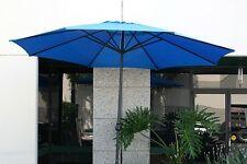 New Patio Outdoor 13' Aluminum Beach Market Sun Umbrella w/ Crank Shade - Blue
