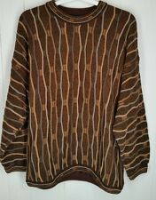 Tundra Canada  Mens Crew Neck Sweater Brown Texture tan size L