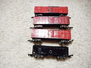 S SCALE AMERICAN FLYER 3 633 B&0 BOXCARS AND A 632 HOPPER