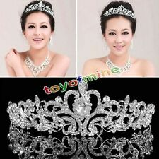 Novia Corona Tiara Bridal Cristal Diamante Rhinestone Para Boda Banquete Fiesta