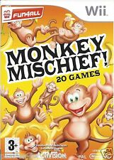 MONKEY MISCHIEF for Nintendo Wii - with box & manual - PAL