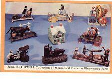 Advertising Postcard - Mechanical Bank Collection Plentywood Farm Barrington IL