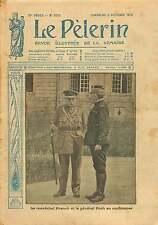 WWI Field Marshal French & Général Foch Ecole Militaire Paris  1915 ILLUSTRATION