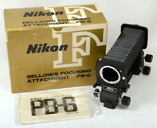 Nikon PB-6 Bellows Focusing Attachment - Mint in Box