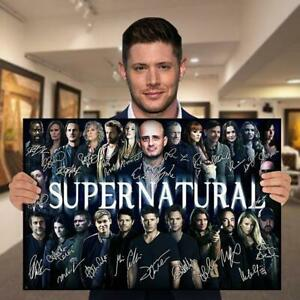 Movie Supernatural All Actors Signed Gift Fan Science Fiction Poster (No Framed)