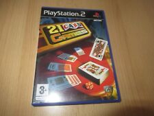 Sony Playstation 2 PS2 Gioco 21 Giochi di Carte