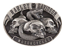 Harley-Davidson Men's Venom Belt Buckle, Antique Nickle Finish HDMBU11416