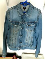 Vintage Lee Denim Jacket size Large Medium Blue Finish Distressed