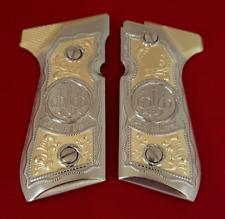 Custom Beretta GRIPS 92/96 Series Pistols 92F, 92FS, M9, 96 Gold Nickel
