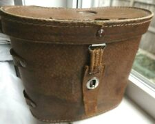 Vintage Binolux Binocular Case (Only) Brown leather with top compass - No Strap