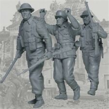1/35 Scale WWII British Soldiers Capture German Sniper Resin Model Figures Kit