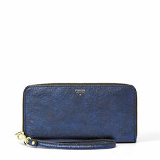 Fossil Leather Zip-Around Women's Purses & Wallets