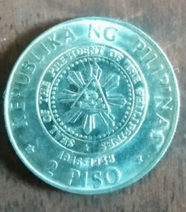 2 Piso.1892-1992,100 Years Birth anniversary of Roxas, AU with lustre