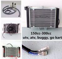 Water Cooled Radiator Cooler +Fan 150cc 200cc 250cc PIT Quad Dirt Bike ATV Buggy