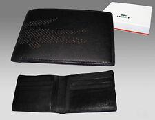 Nuevo Auténtico Lacoste grandes Billetera Cartera De Cuero Negro Perforada Croc 4