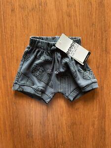 Bonds Cargo Khaki Shorts Ice Cream Ribbed Dark Grey Charcoal BNWT Size 000