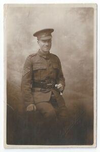 WW1 West Yorks Yorkshire Regiment TF 7th Battalion Leeds Rifles Sergeant RP PC