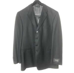 Gianni Versace Mens Size 46 Classic V2 Black Wool Blazer Single Breasted Button