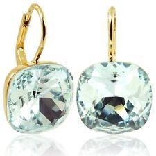Ohrringe mit Kristallen von Swarovski® Gold Light Azore Blau NOBEL SCHMUCK