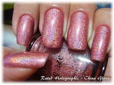 "China Glaze Nail Polish "" RATED HOLOGRAPHIC  ""  New/Full Size & RARE!!"