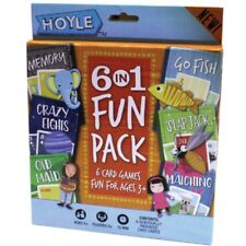 6 Pack Kids Card Games Deck Set Playing Cards Old Maid Go Fish Memory Matching
