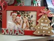 CHRISTMAS XMAS TREE PHOTO PICTURE FRAME 15cm x 10cm HOME DECOR  ~ GIFT IDEA