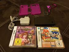 Nintendo DSi Mattschwarz Handheld-Spielkonsole + 2 Spiele, R4i Karte und Schutz