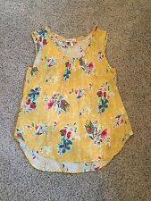 Women's Hester & Orchard Floral Mustard Top, Size Large, Zulily