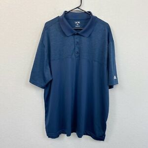 Adidas Blue Short Sleeve Golf Polo Shirt Mens 3XL Big & Tall
