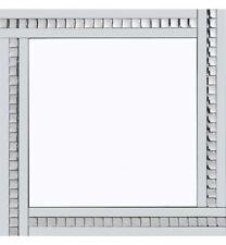 Classic Triple Bar Mirror White Crystal Edge Design 60cm x 60cm by Pharmore